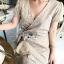 Star Velvet Ruffle Lady Ribbon Dress thumbnail 5