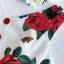 ผ้าเครปพิมพ์ลายดอกกุหลาบสีแดง thumbnail 10