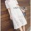 Lace Shirt Dress เชิ้ตเดรสผ้าลูกไม้สีขาว thumbnail 4