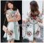 Blossom Lady Ribbon Printed Mini Dres thumbnail 1