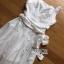 จัมป์สูทขายาวผ้าลินินตกแต่งลูกไม้สีขาว thumbnail 8
