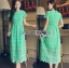 Minty Lady Ribbon Lace Maxi Dress thumbnail 3