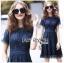 Lace Dress เดรสผ้าลูกไม้สีน้ำเงินเข้มทรงเบสิก thumbnail 2