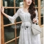 Chiffon Dress Lady Ribbon ขาย เดรสผ้าชีฟอง thumbnail 2