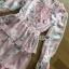 Lady Jill Printed Layered Pink Chiffon Dress thumbnail 5