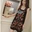 Lady Penelope Boho Black cotton Dress thumbnail 4