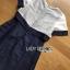 White Silk Cotton Dress Lady Ribbon เดรสผ้าซิลค์ thumbnail 6