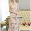 Lady Sophia Chinoise Baby Pink Lace Dress thumbnail 1