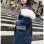 Chic Lady Ribbon Fur-Hood Denim Jacket thumbnail 5