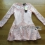 Lady Sophia Pink Nude Polyester and Lace Dress thumbnail 6