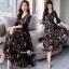 ชุดเดรสดอกเกาหลีผ้าชีฟองลายดอก thumbnail 2