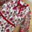เดรสผ้าลูกไม้ทอลายดอกไม้และตกแต่งดอกไม้สีแดง thumbnail 7