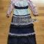 Lady Luna Ruffle Mixed Lace Long Dress thumbnail 7