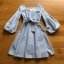 Baby Blue Mini Dress with Ribbon thumbnail 7