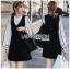 Lady Ribbon Shirt and Black Dress thumbnail 2