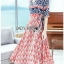 Lady Jane Red and Navy Printed Kimono Dress thumbnail 3