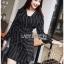 Black Mini Dress Lady Ribbon มินิเดรสผ้าเครปสีดำ thumbnail 3