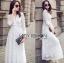 White Cotton Dress เดรสผ้าคอตตอนสีขาว thumbnail 2