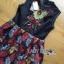 Lady Modern Hippie Floral Embroidered and Printed Dress thumbnail 5
