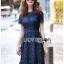 Lace Dress เดรสผ้าลูกไม้สีน้ำเงินเข้มทรงเบสิก thumbnail 5