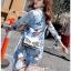 Lady Leslie Vivid Blue Printed Bow Dress thumbnail 4