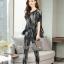 เสื้อกางเกงเกาหลีผ้าพื้นสีดำ thumbnail 5