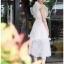 Lady Ellie Fancy Ruffle White Lace Dress thumbnail 5