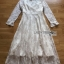 Lady Pat Sweet and Classic Off-White Lace Dress thumbnail 7