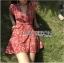 มินิเดรสผ้าเครปสีแดง thumbnail 2