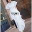 Ruffle Dress Lady Ribbon ขายเดรสยาว thumbnail 3