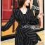 Black Mini Dress Lady Ribbon มินิเดรสผ้าเครปสีดำ thumbnail 2