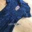 Lace Dress เดรสผ้าลูกไม้สีน้ำเงินเข้มทรงเบสิก thumbnail 8