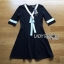 White & Black Lady Ribbon Dress thumbnail 7