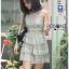 Grey Lace Dress Lady Ribbon ขายเดรส thumbnail 2