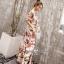 ชุดเดรสแฟชั่นผ้าลายดอกสีชมพูโอรส thumbnail 5