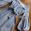 Baby Blue Mini Dress with Ribbon thumbnail 5