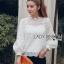 Yves Classic Sweet White Lace Blouse thumbnail 1