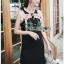 Black Dress Lady Ribbon เดรสผ้าเครปสีดำ thumbnail 3