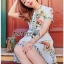 Blossom Lady Ribbon Printed Mini Dres thumbnail 4
