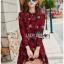 Lady Alora Spring Blossom Printed Ruffle Crepe Dress thumbnail 3