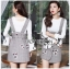 Lady Suit Dress Over White Blouse thumbnail 2