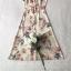 เดรสผ้าเครปผสมซิลล์พิมพ์ลายดอกไม้ thumbnail 9
