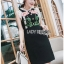 Black Dress Lady Ribbon เดรสผ้าเครปสีดำ thumbnail 2