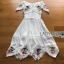 Lady Elise Summer Embroidered Chiffon Dress thumbnail 8