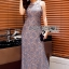 Sequin Embroidered Lady Lace Maxi Dress thumbnail 6