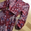 Lady Red Monica Floral Patterned Printed Wrap Dress thumbnail 5