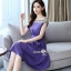 เดรสเกาหลีผ้าสีพื้นเนื้อดีนุ่ม thumbnail 5