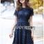 Lace Dress เดรสผ้าลูกไม้สีน้ำเงินเข้มทรงเบสิก thumbnail 6