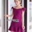 Color Ribbon Mini Peplum Dress thumbnail 4