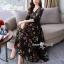 ชุดเดรสดอกเกาหลีผ้าชีฟองลายดอก thumbnail 6